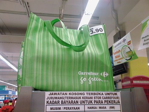 Carrefour's feeble attempt to go green