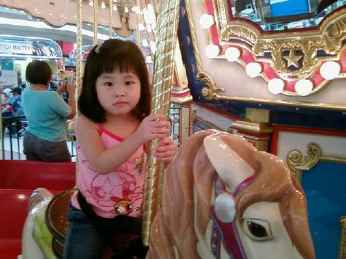 Youngest horse rider.